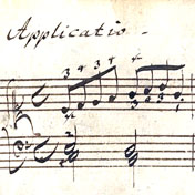 Bach autograph with Baroque fingerings
