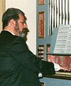 Playing a baroque organ